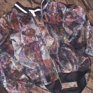 Fashion print jacket NWOT